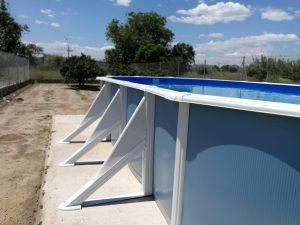 Estructura para nivelar piscina desmontable
