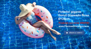 Flotador gigante Donut Glaseado Rosa