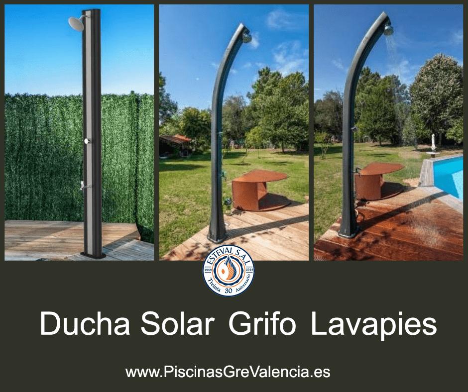 Ducha Solar PVC con Grifo Lavapies