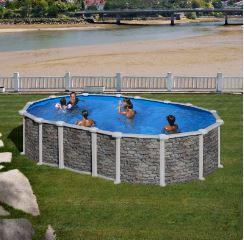 piscina desmontable santorini ovalada