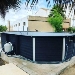 Instalación piscina desmontable Gre de composite