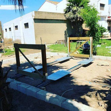 Instalación piscina desmontable Gre de composite KPCOV6650
