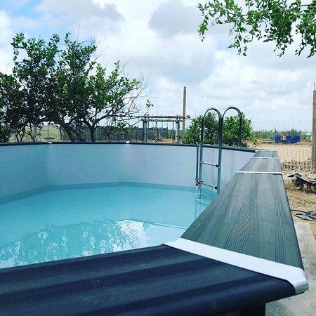 Instalación piscina desmontable Gre de composite Valencia