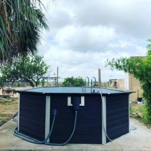Instalación piscina desmontable de composite KPCOV6650