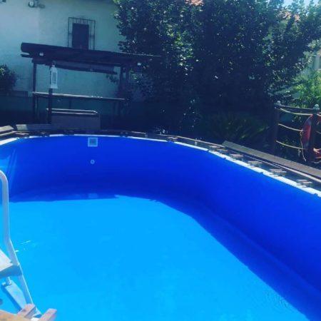 Cambio de piscina desmontable