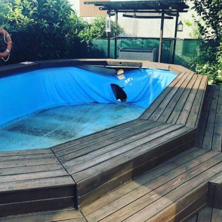 Cambio de piscina desmontable Gre KIT730ECO recubierta