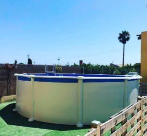 Instalación piscina desmontable Gre serie Atlantis KIT458.
