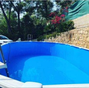cambio de liner en piscina desmontable