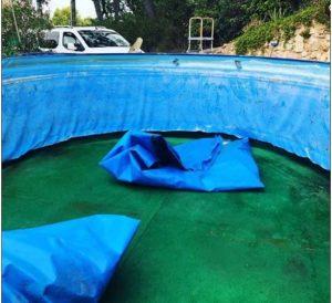 cambio liner de piscina desmontable