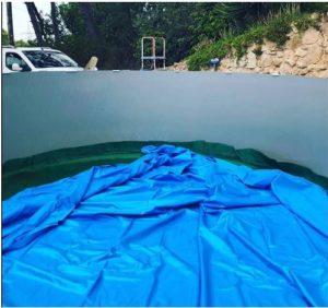 cambio liner en piscina desmontable
