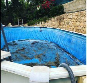 cambio liner piscina desmontable