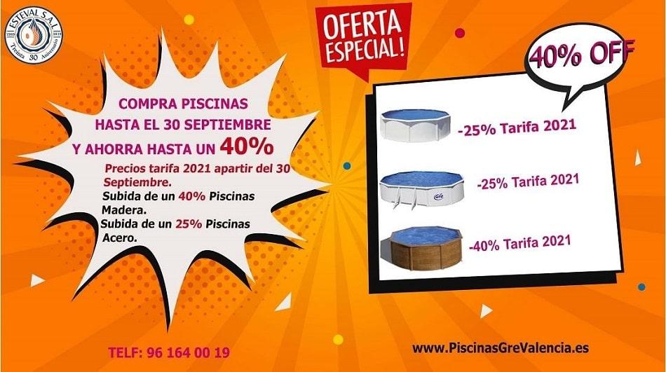 OFERTA ESPECIAL PISCINAS DESMONTABLES